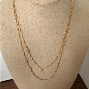 Necklace gold plated and Chrystal 💎